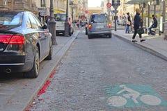 public transport stripe in Paris Royalty Free Stock Image