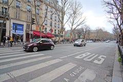 Public transport stripe in Paris Stock Photos