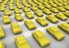 Public transport taxi. 3D render of taxi symbols Stock Photo