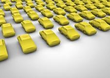 Public transport taxi. 3D render of taxi symbols Stock Image