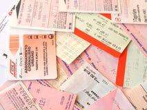 Public transport tickets Stock Photos