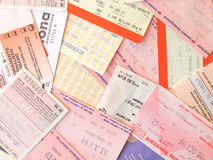 Public transport tickets Royalty Free Stock Images