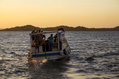 Public transport in Todos los Santos bay Royalty Free Stock Image