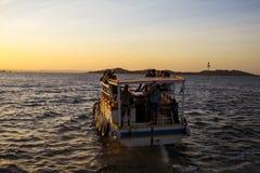 Public transport in Todos los Santos bay Royalty Free Stock Images