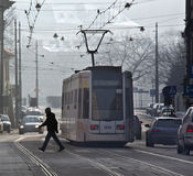 Public Transport - Tram - Krakow - Poland Royalty Free Stock Photo