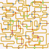 Public transport or tube map. (fictional), seamless pattern, vector Royalty Free Stock Image