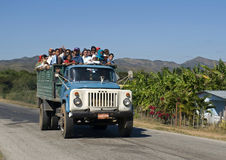 Public transport, Valley of the Ingenios, Cuba Stock Photos