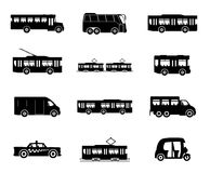 Public transport. Vector icons isolated on white background. Public transport Royalty Free Stock Photography