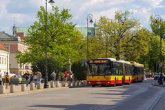 Public Transport in Warsaw Stock Image