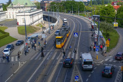 Public Transport in Warsaw Royalty Free Stock Photos