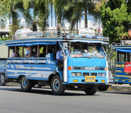 Public transport of wooden minibus or Songtaew in Ranong, Thaila Stock Photography