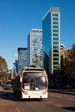 Public transportation. On Apoquindo Avenue, Santiago, Chile, South America Royalty Free Stock Photography
