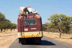Public Transportation on African Road Royalty Free Stock Images