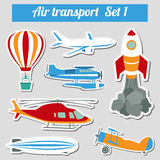 Public transportation, air transportation. Icon set. Royalty Free Stock Image