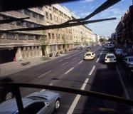 Public transportation in Berlin. Berlin tourist view from a double decker bus, public transportation Royalty Free Stock Image
