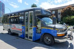 A public transportation bus in Burnaby royalty free stock photography