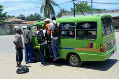 Public transportation. In the city of Dili, Timor Leste on February 06th, 2012 Royalty Free Stock Image