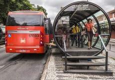 Public Transportation. The famous public transportation system of Curitiba in Parana, Brazil Royalty Free Stock Photo