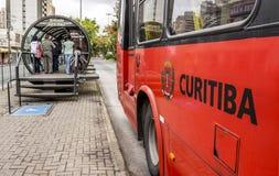 Public Transportation. The famous public transportation system of Curitiba in Parana, Brazil Stock Photos