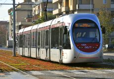 Public transportation in Florence, Italy. Public tram on the streets of Florence , Italy.italian public transportation Stock Photography