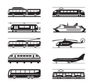 Public transportation icon set Stock Photography