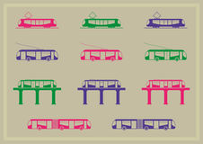 Public transportation icons series Royalty Free Stock Image
