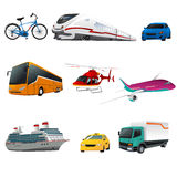 Public transportation icons Stock Photos