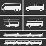 Public transportation. Illustration on the theme of public transport Stock Photography