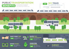 Public Transportation Infographic Element Royalty Free Stock Photo