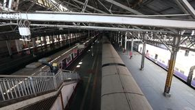 Public transportation in Mumbai stock video
