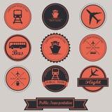 Public Transportation Label Design Stock Image