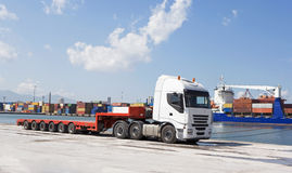 Public Transportation, Loading at the port. Loading of ships at the port of export Royalty Free Stock Images