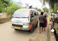 Public transportation in Manokwari Stock Photos
