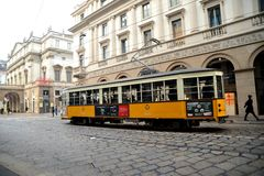 Public transportation in Milan, Italy Royalty Free Stock Images