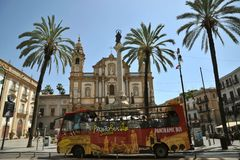 Public transportation in Palermo city , Italy Stock Image