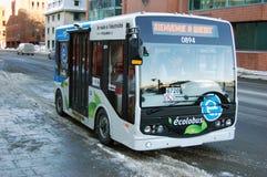 Public Transportation in Quebec City. Free public transportation ecolobus in Quebec City, Canada Stock Photos