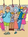 Public Transportation Riders stock illustration