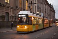 Germany Berlin, Museum Island, public transport system, progressive light rail,. Public transportation system on the streets of Museum Island, Berlin, Germany Stock Photo