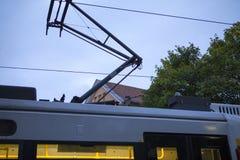 Germany Berlin, Museum Island, public transport system, progressive light rail,. Public transportation system on the streets of Museum Island, Berlin, Germany Stock Images