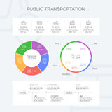 Public transportation template. Vector public transportation infographic template for presentation Royalty Free Stock Image