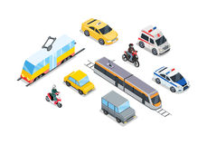 Public Transportation. Traffic Items Collection. Royalty Free Stock Images