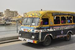 Public transportation typical bus in Senegal Royalty Free Stock Images