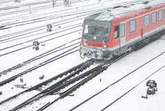 Public Transportation in Winter Stock Photography