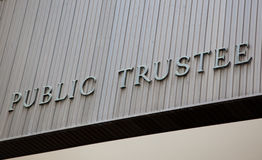 Public Trustee Building Sign Stock Photos