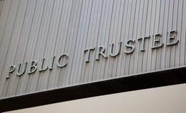Public Trustee Building Sign Stock Photos