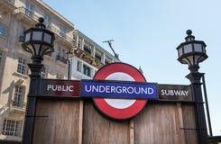 Public underground subway Stock Image