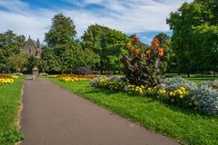 Public urban garden in Kings Lynn, Norfolk UK. Public urban garden in Kings Lynn, also know as The Walks. Norfolk, UK Stock Photos