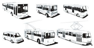 Public urban transport royalty free stock photo