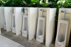 Public urinals Stock Image