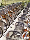 Public use bicycles Royalty Free Stock Photos
